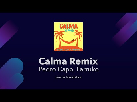 What does calma mean in spanish