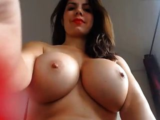 Naked women with big boobs is squirting
