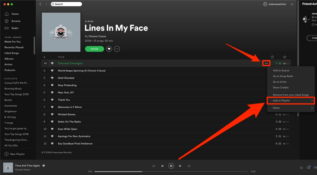 Spotify how to add multiple songs to playlist